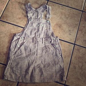 3/$20 Vintage girls overall dress